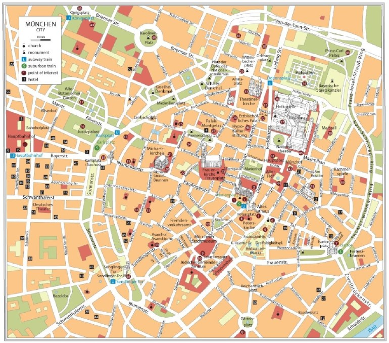 Munich Attractions Map Pdf - Free Printable Tourist Map Munich with Munich Germany Map Attractions