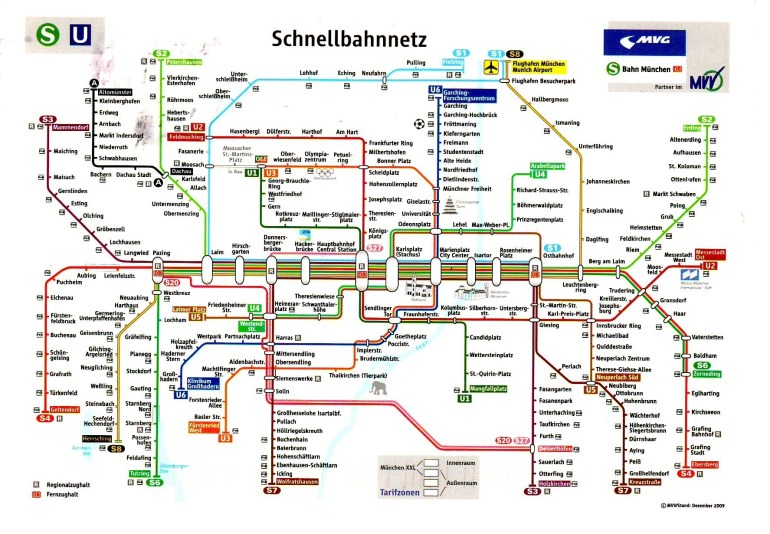 Munich Transportation Map And Travel Information | Download Free for Germany Train Map Cities