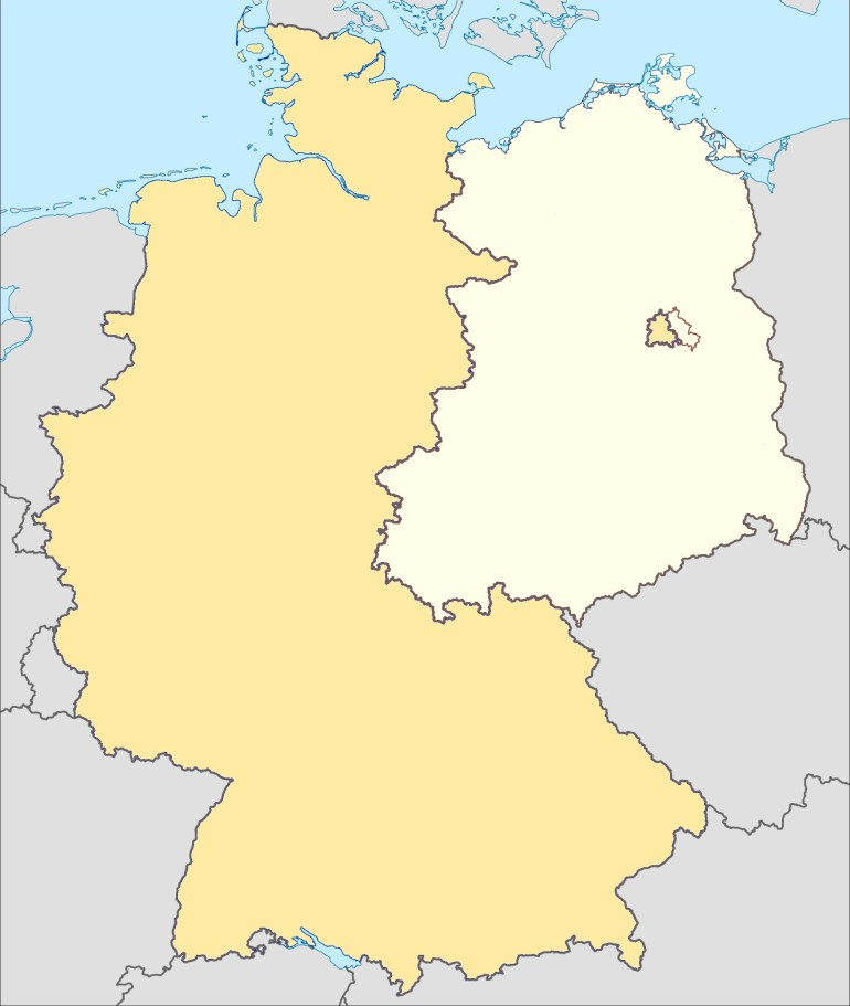 Museums Of The Inner German Border - Wikipedia with Map Of Germany During Cold War