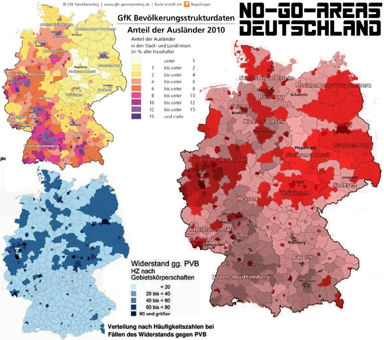 No-Go Areas:american And European Ghettos Of Broken Dreams – Sarah throughout Germany No Go Zones Map