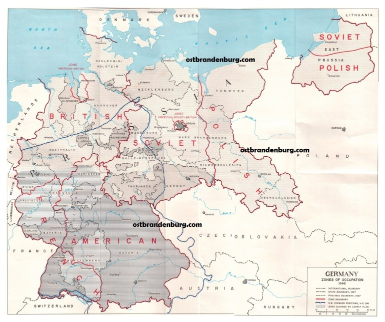 Old Maps Of Brandenburg Germany with regard to East Germany Map 1945