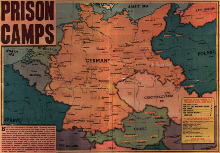 Pow Camps intended for Map Of Germany With Concentration Camps