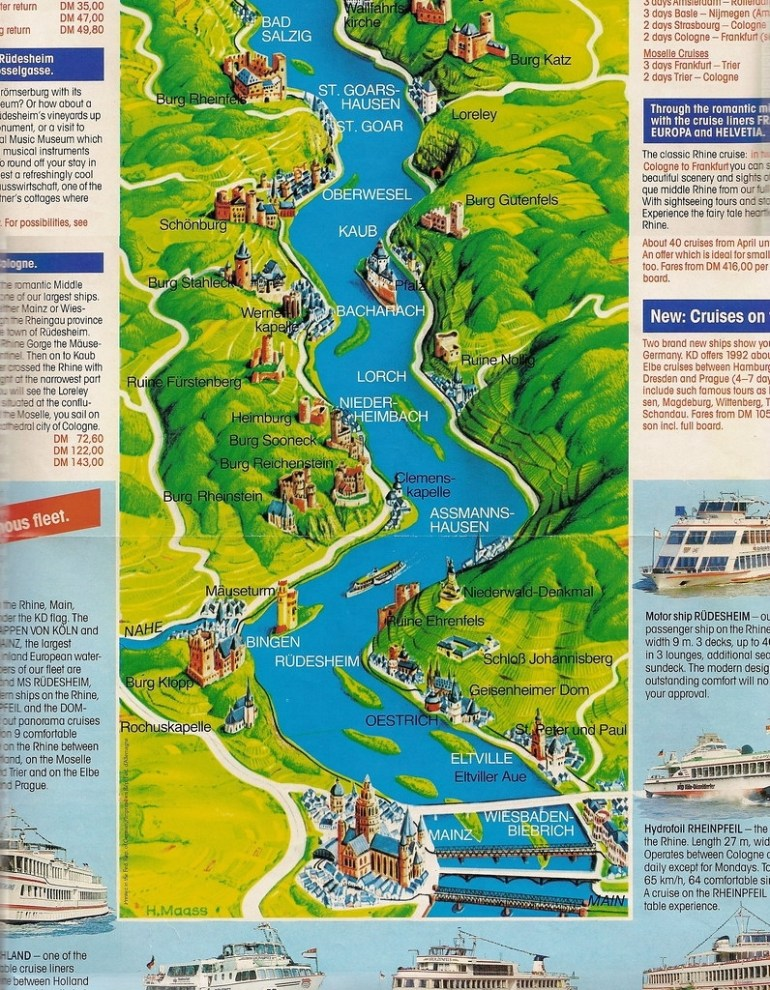 Rhine River Cruise Map | The Brochure Included A Map Of The … | Flickr inside Rhine River Germany Map