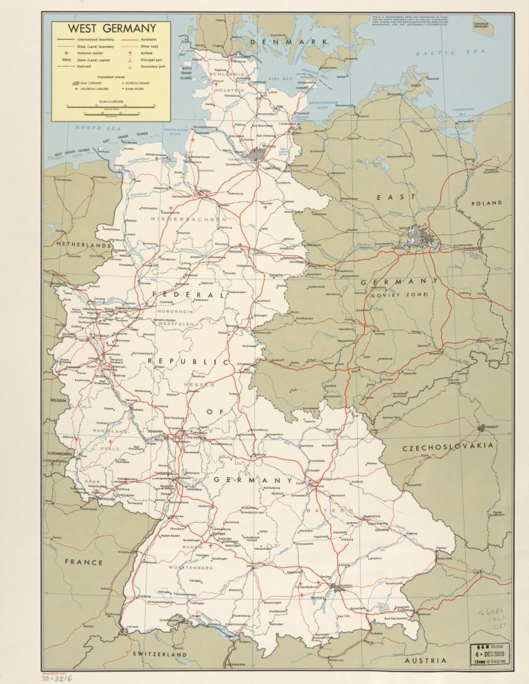Search Results For Map, Germany, Available Online | Library Of Congress pertaining to East And West Germany Border Map