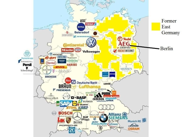 """Simon Kuestenmacher On Twitter: """"#map Shows Why #germany Is with regard to East West Germany Map"""