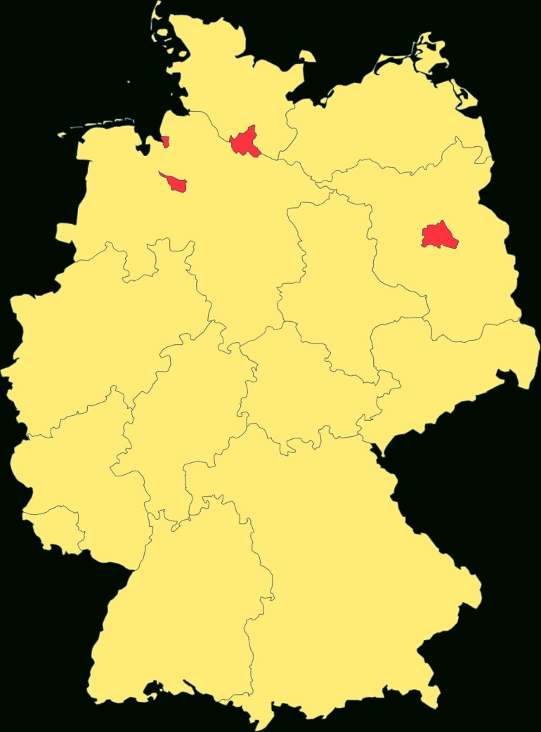 States Of Germany - Wikipedia intended for German Federal States Map