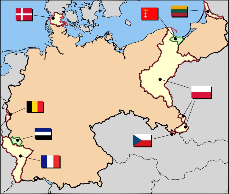 Territorial Evolution Of Germany - Wikipedia for Map Of Germany Before World War 1