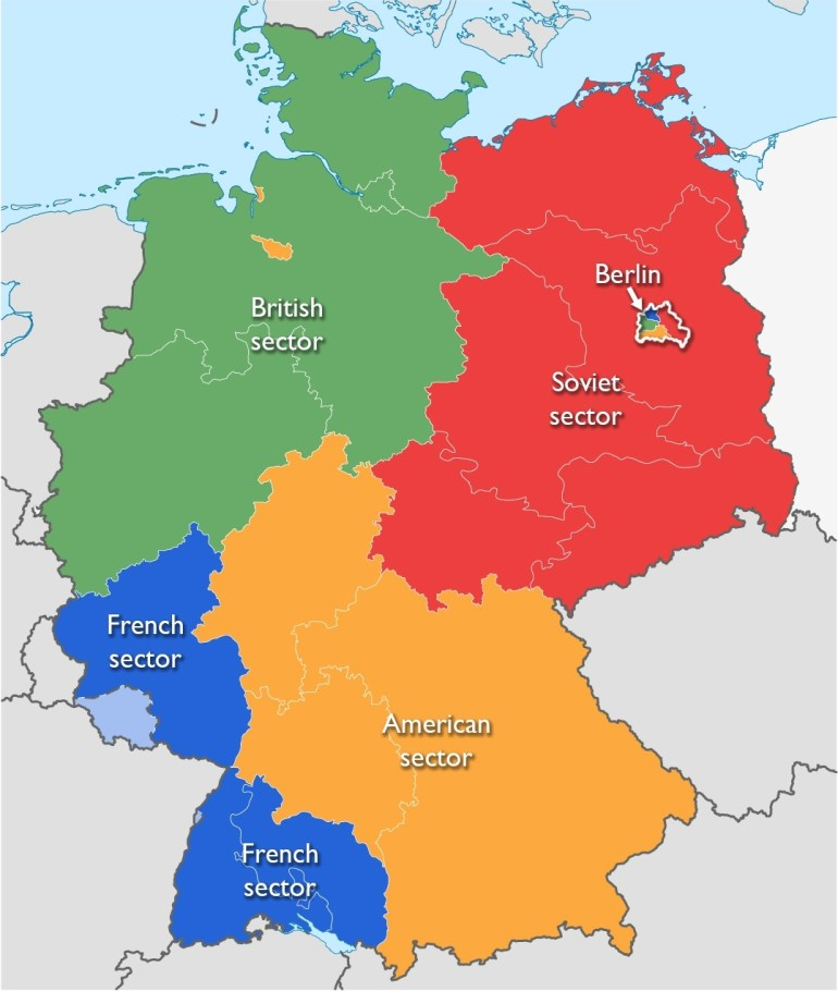 The Berlin Wall As A Political Symbol – Smarthistory with Germany Divided After Ww2 Map