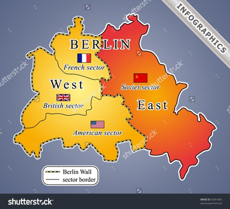 The Berlin Wall Was Built In The Wake Of World War Ii, Dividing within East Germany Berlin Wall Map