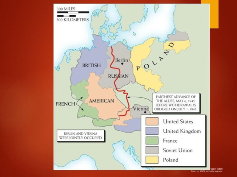 The Cold War. - Ppt Download for East Germany Map 1945