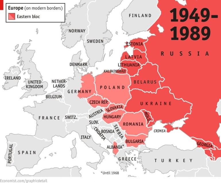 The East Bloc '46-'89   The Cold War   Map, Cold War, Historical Maps with regard to Map Of East Germany Before 1989