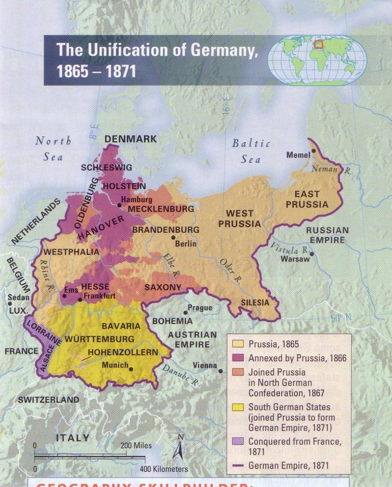 The Unification Of Germany 1865-1871 | Gifex for German Unification Map Activity