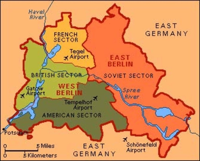 Things Have Changed: Berlin Divides intended for Map Of Divided Germany And Berlin