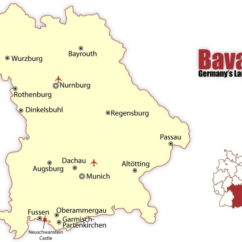 Travel To The Best Bavarian Cities: Munich And Nuremberg within Detailed Map Of Bavaria Germany