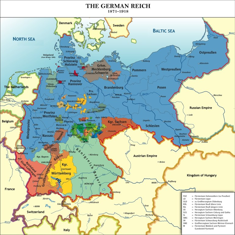 Unification Of Germany | Schoolshistory.uk with regard to Map Of German States Before Unification
