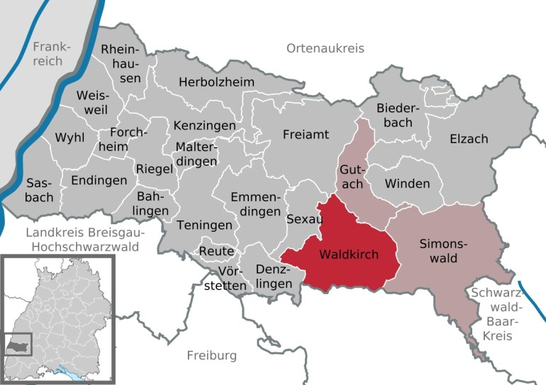 Waldkirch - Wikipedia inside Map Of Germany Showing Freiburg