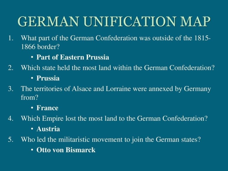 Welcome! Complete The Following In Order: - Ppt Download with regard to German Unification Map Activity