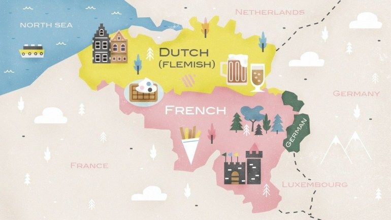 What Are The Languages Spoken In Belgium? | Babbel Magazine with regard to Map Of France Belgium And Germany