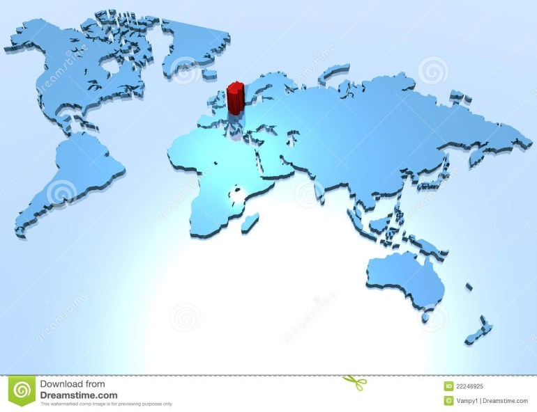 World Map, Country Of Germany Stock Illustration - Illustration Of within Map Of The World With Germany