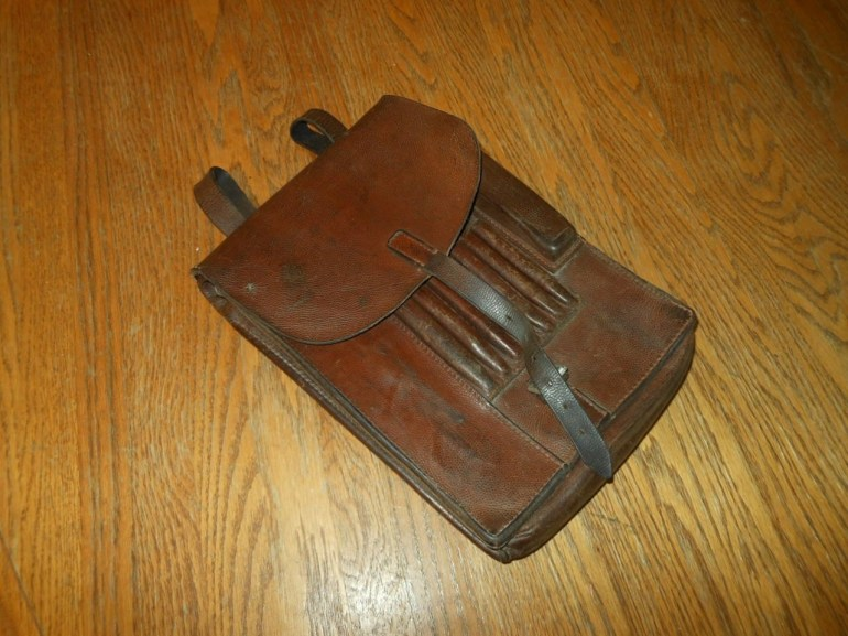 Ww2 German / Luftwaffe M35 Leather Dispatch Map Case #4 - Very Nice! inside German Map Case Ww2