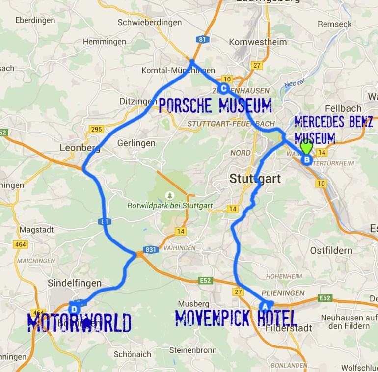 24 Hours In Str: Stuttgart Germany For Car Lovers - The with regard to Map Of Stuttgart Germany Area