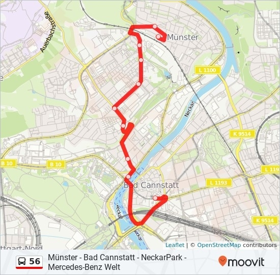 56 Route: Time Schedules, Stops & Maps - Bad Cann with regard to Stuttgart Bus Route Map