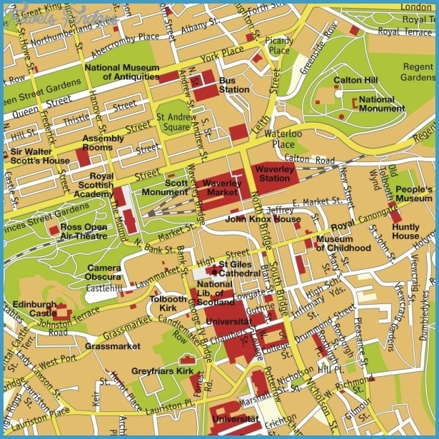 Edinburgh Map - Travelsfinders for Stuttgart City Centre Map
