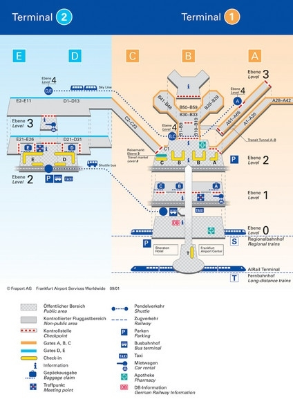 Frankfurt Airport Map - Free Printable Maps with Stuttgart Airport Layout Map