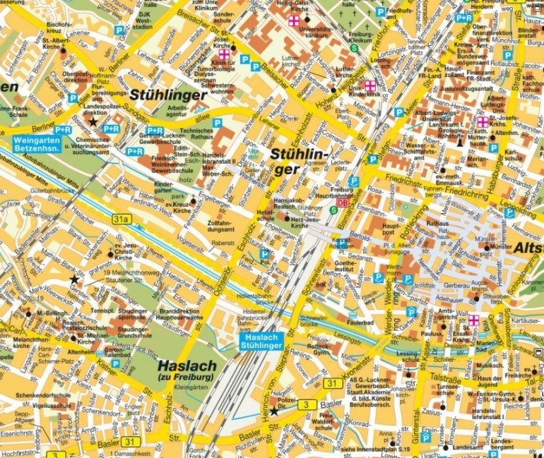 Freiburg Map And Freiburg Satellite Image pertaining to Augsburg Stuttgart Google Maps