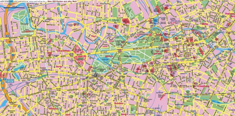 Large Berlin Maps For Free Download And Print | High with regard to Stuttgart City Centre Map