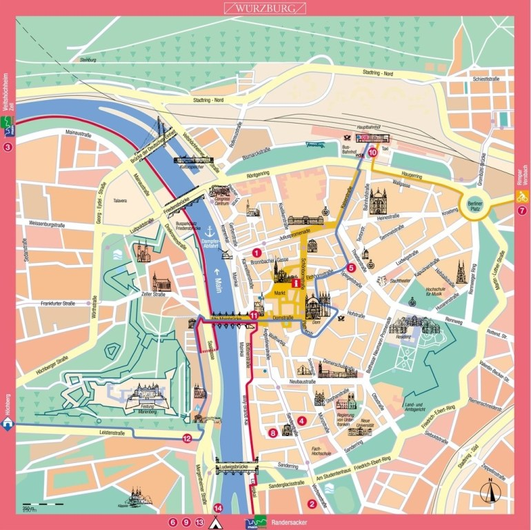 Large Wurzburg Maps For Free Download And Print | High intended for Stuttgart Germany Map Google