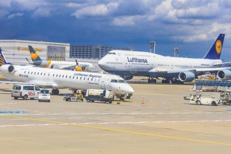 Lufthansa Airplane Editorial Photography. Image Of intended for Stuttgart Airport Gate Map
