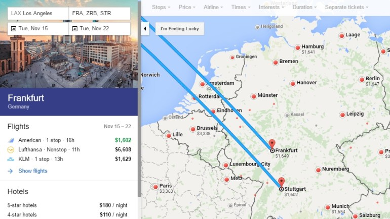 Skyteam Business Class $1,100 To $1,650 Round Trip Usa To throughout Stuttgart Germany Google Maps