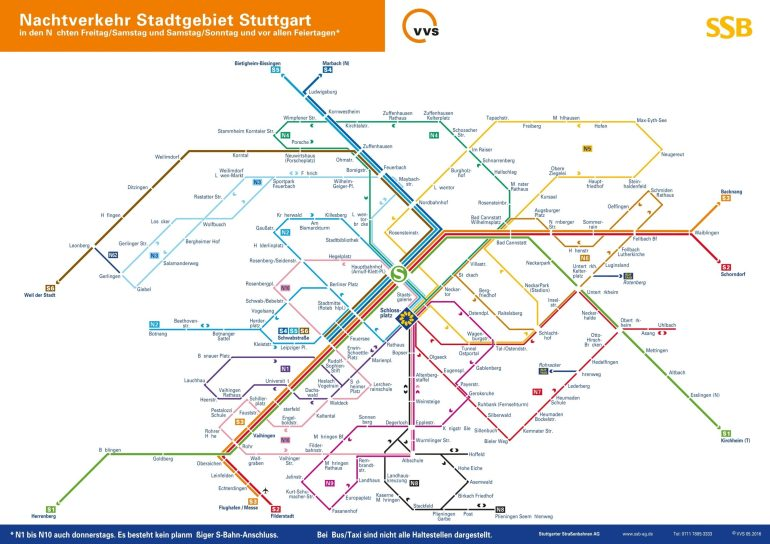 Stuttgart Night S-Bahn Map throughout Google Maps Stuttgart Düsseldorf