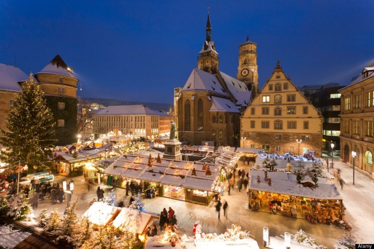 Travel: Best German-Style Christmas Markets 2012 In Europe with Germany Map Stuttgart Frankfurt