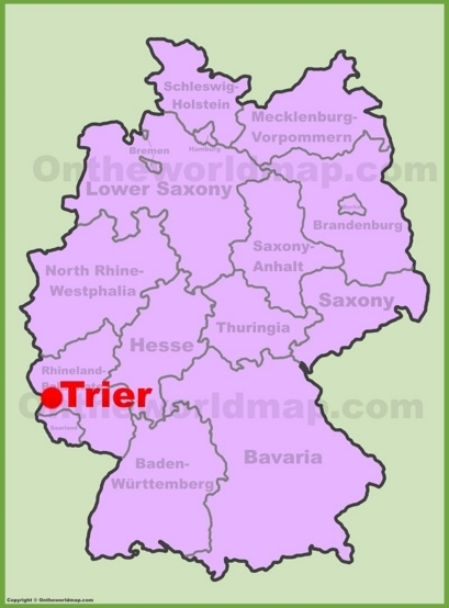 Trier Maps | Germany | Maps Of Trier intended for Stuttgart Map In Germany
