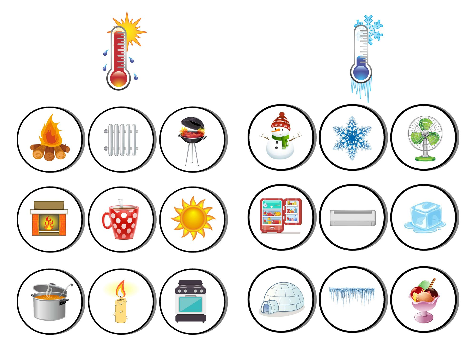 Logical Game For Children Hot Cold