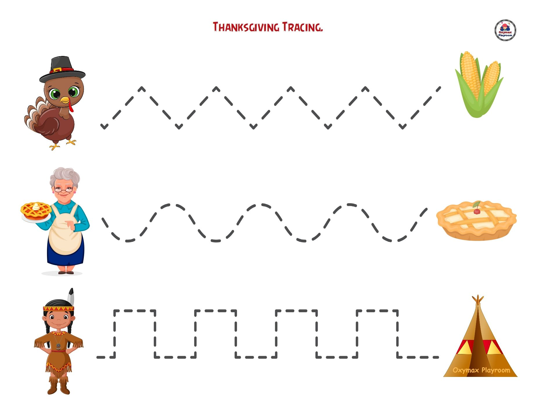 Thanksgiving Printable Activities For Kids