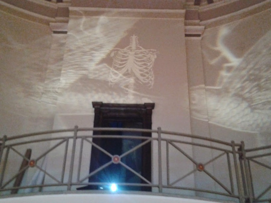 Benjamin Oliver OXYOPIA at The Ashton Memorial - Projections 02 - 17th May 2014. Photo by Claire Kingston