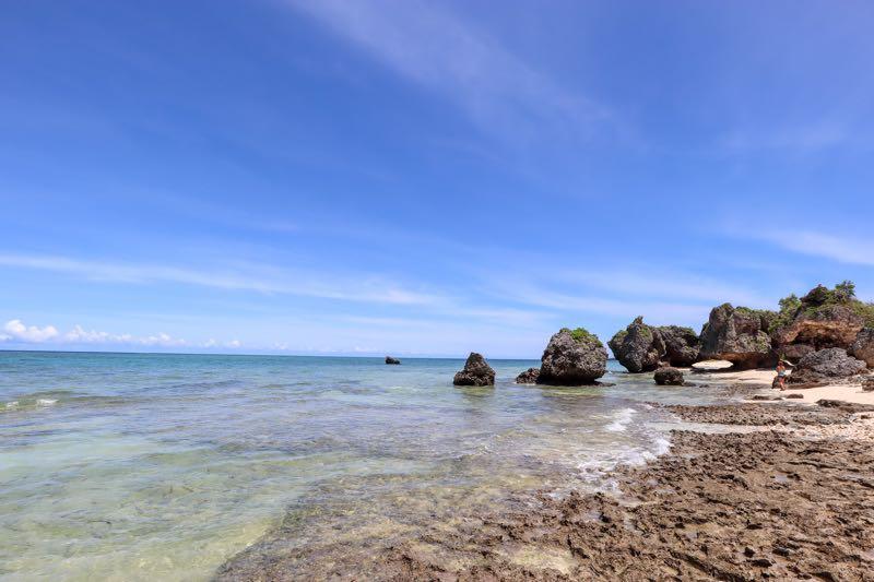 浜辺におりての眺め