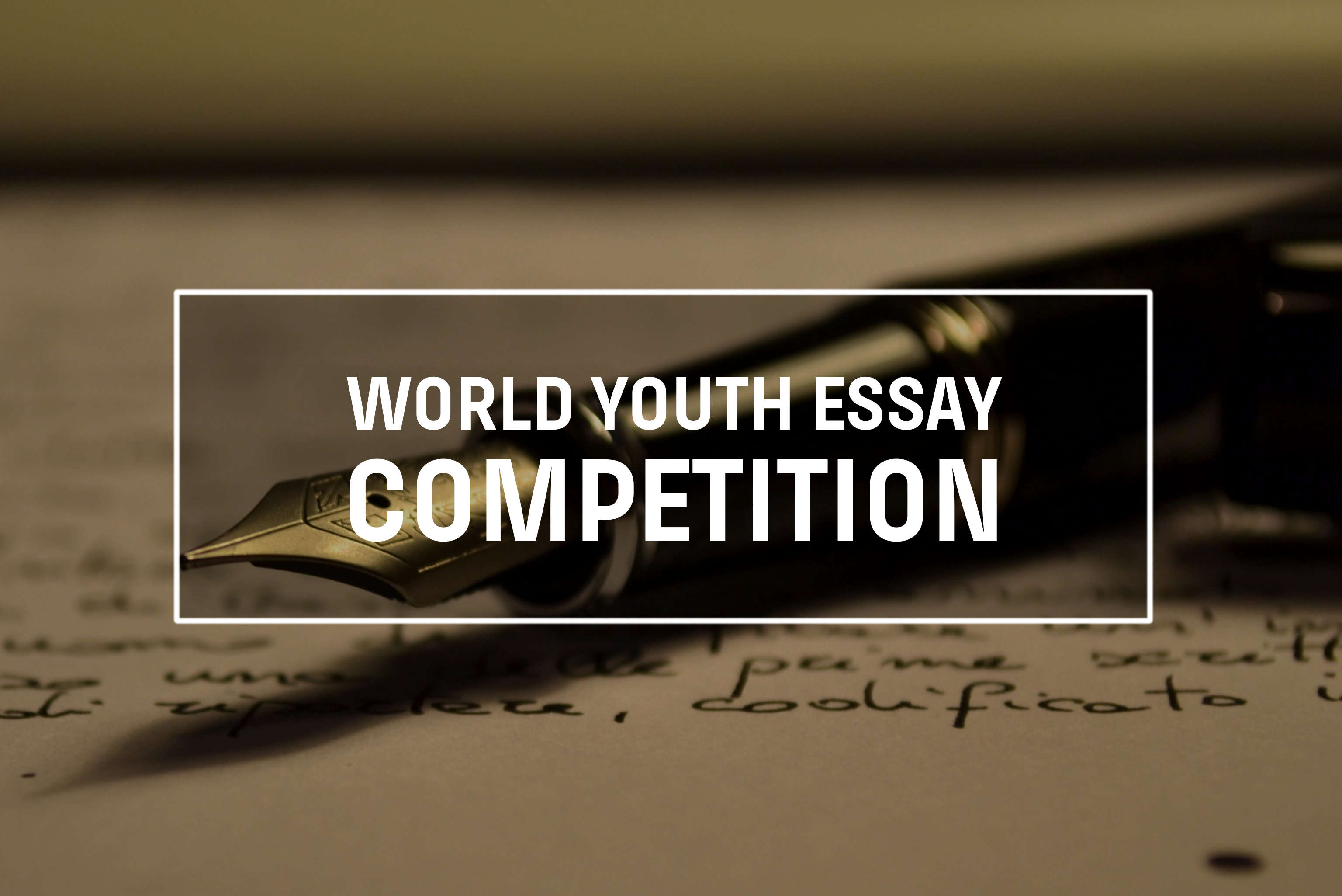 youth essay competition 2012 Anti-corruption youth essay competition: the authors of the best three essays will be flown to the host city for the 2012 international anti.