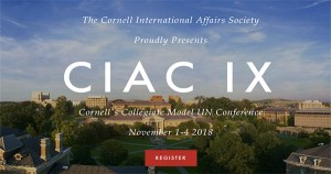 Cornell International Affairs Conference in New York, USA