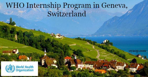 WHO Internship Program in Geneva