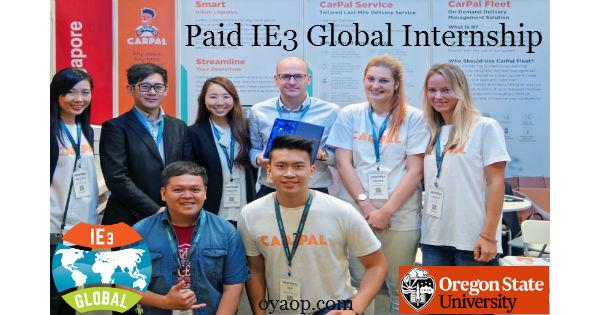 Paid IE3 Global Internship