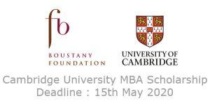 Fully Funded Cambridge University Scholarship in UK, 2020