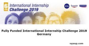 Fully Funded International Internship Challenge 2019