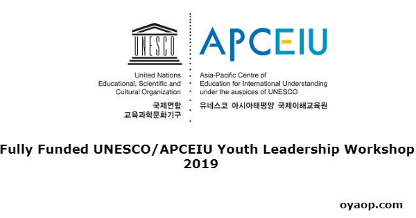 Fully Funded UNESCO/APCEIU Youth Leadership Workshop