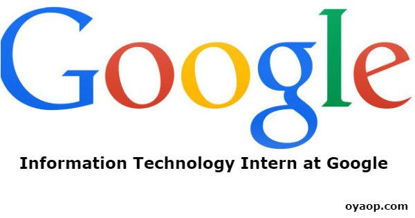Information Technology Intern at Google