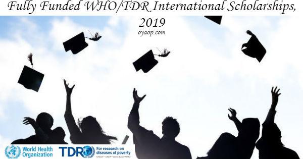 WHO/TDR International Scholarships