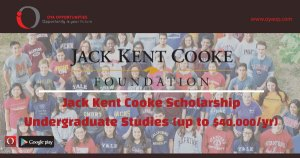 Jack Kent Cooke Scholarship for Undergraduate Studies (up to $40,000/yr)